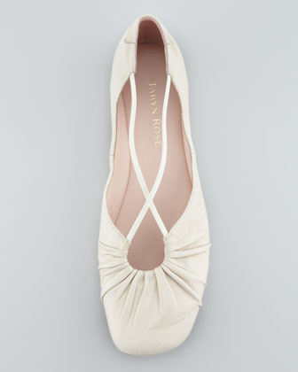 taryn-rose-ruched-bryan-crisscross-ballerina-flat-bone