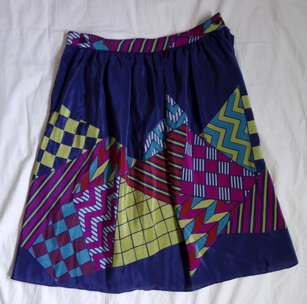wardrobe-Vintage-70s-silk-geometric-skirt-purple