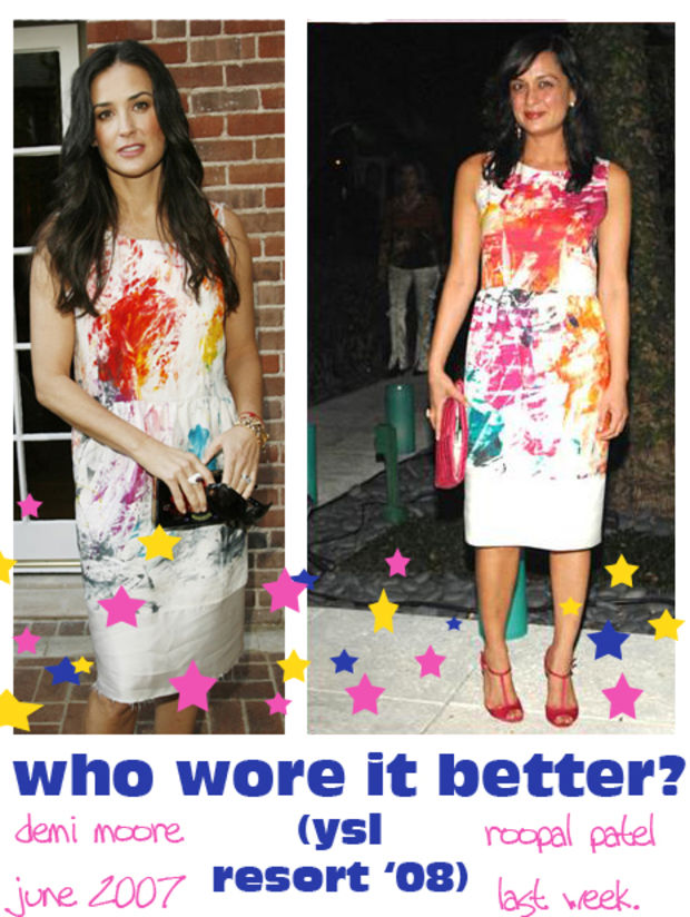 http://fashionista.com/2007/12/who-wore-it-better-ysl-splatter-paint-dress